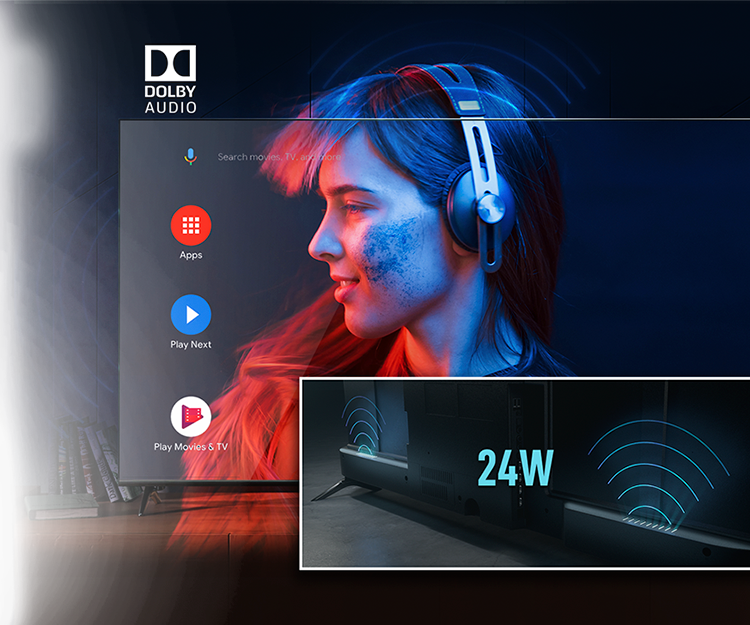 DOLBY AUDIO WITH DEEPER BASS