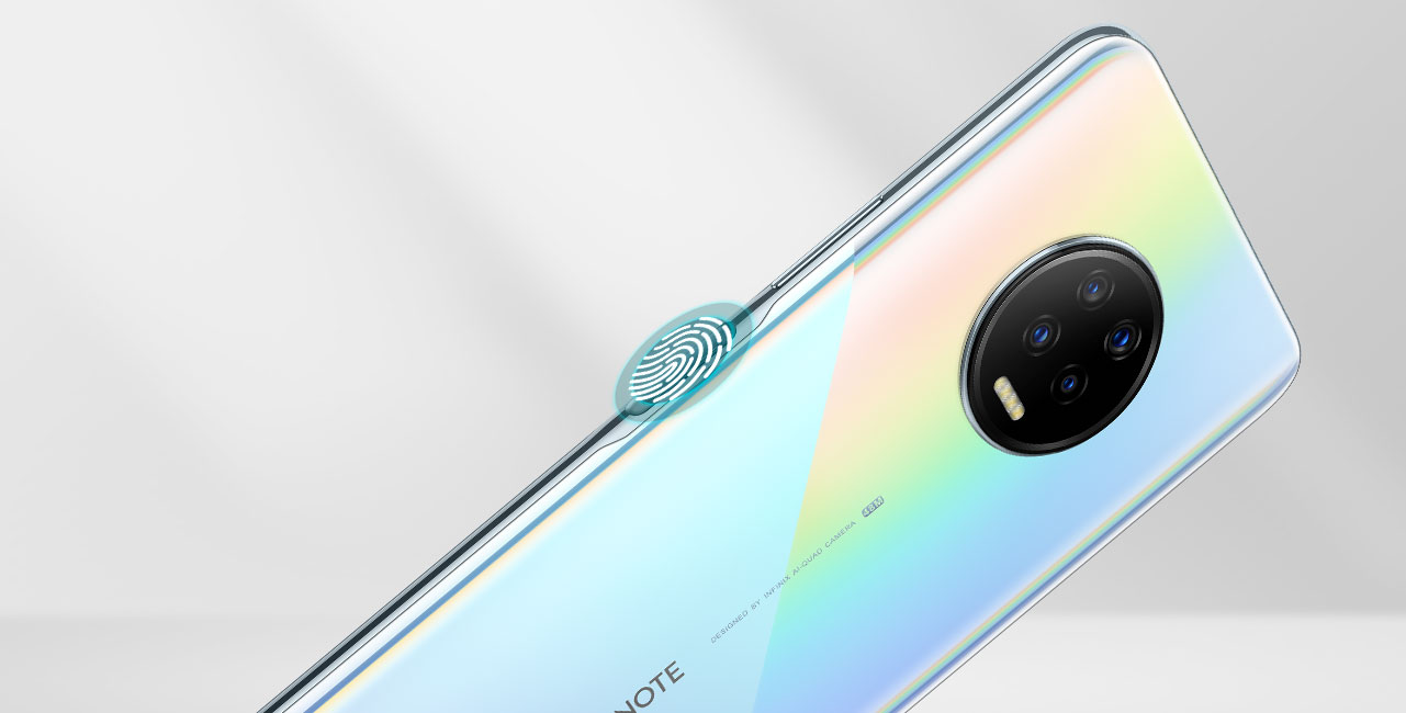 Infinix note 7 side mounted
