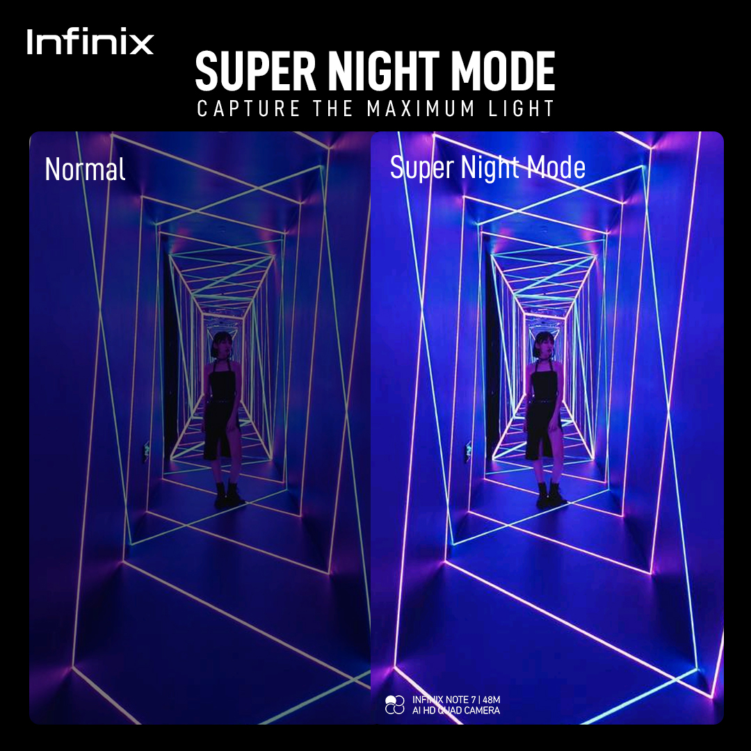 Infinix Super Night Mode