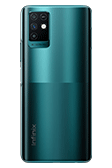Infinix Note 10 Emerald Green Back