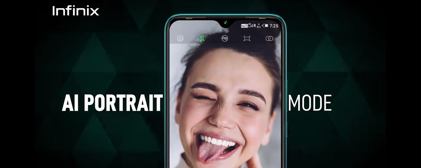 Infinix smart 4 plus AI potrait mode
