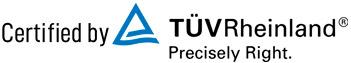 Certified by TUV Rheinland